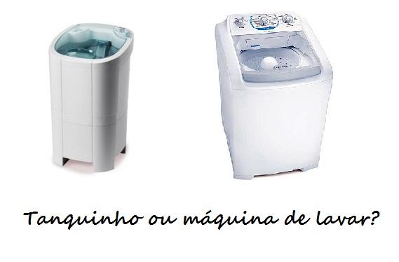 comprar tanquinho ou maquina de lavar